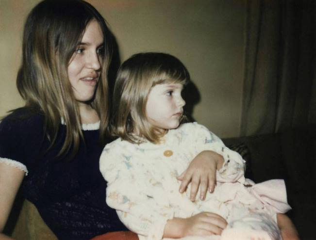 My mom and I in 1972.