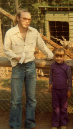 My dad and I at the Catskill's Game Farm in New York in 1974 (I think).